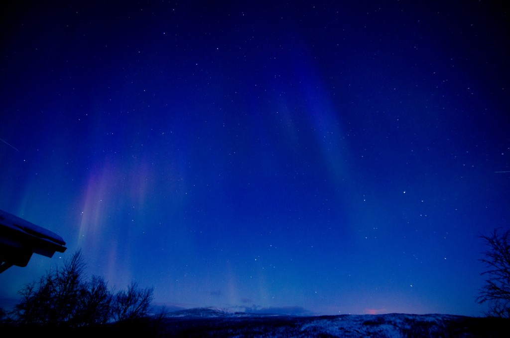 The infinite stars and the faint northern lights greeting our eyes just before dawn