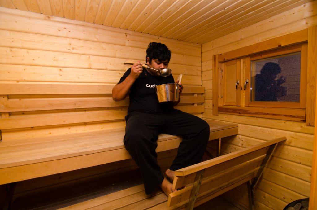 Shilp and Sauna is probably not the best combination :P